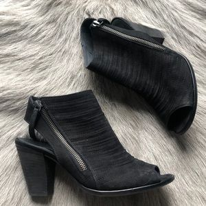 Paul Green Cayanne Black Nubuck Sandals 5 7.5